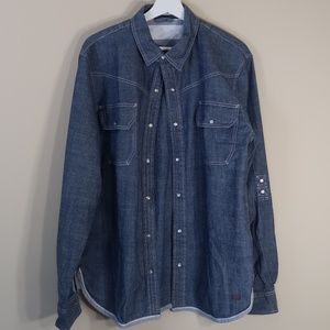 Levi's Blue Long-Sleeve Casual Shirt